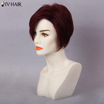 Siv Hair Short Pixie Side Bang Layered Hair Hair Wig - Rouge Foncé