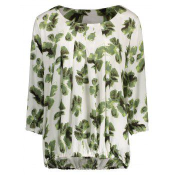 Round Neck Floral Print Blouse