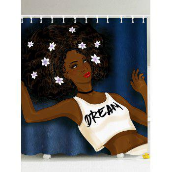 Afro Girl Think About Her Dream Shower Curtain