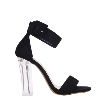 Crystal Heel Ankle Strap Sandals