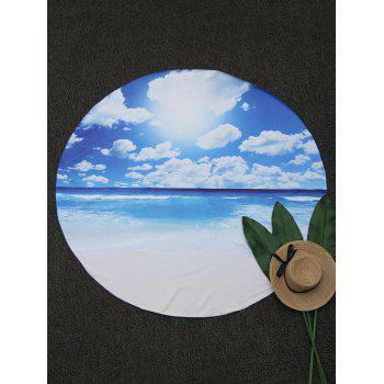 Seascape Round Fabric Beach Throw - BLUE 150*150CM