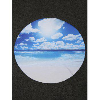 Seascape Round Fabric Beach Throw - 150*150CM 150*150CM