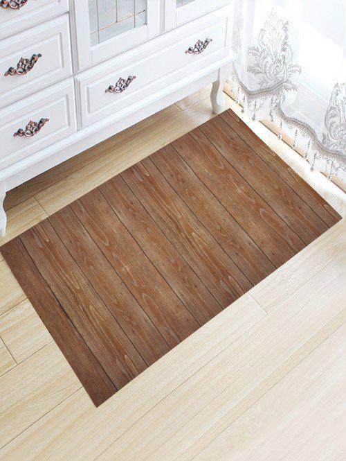 Wood Grain Skid Resistant Flannel Bath Rug decorative led cabin light panel