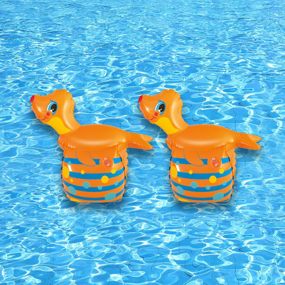 Seal Shape Inflatable Arm Floating Ring - SWEET ORANGE