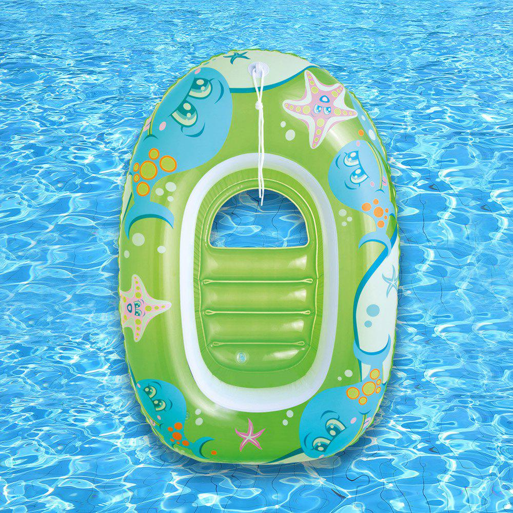 Dolphin Starfish Printed Inflatable Floating Boat - GREEN