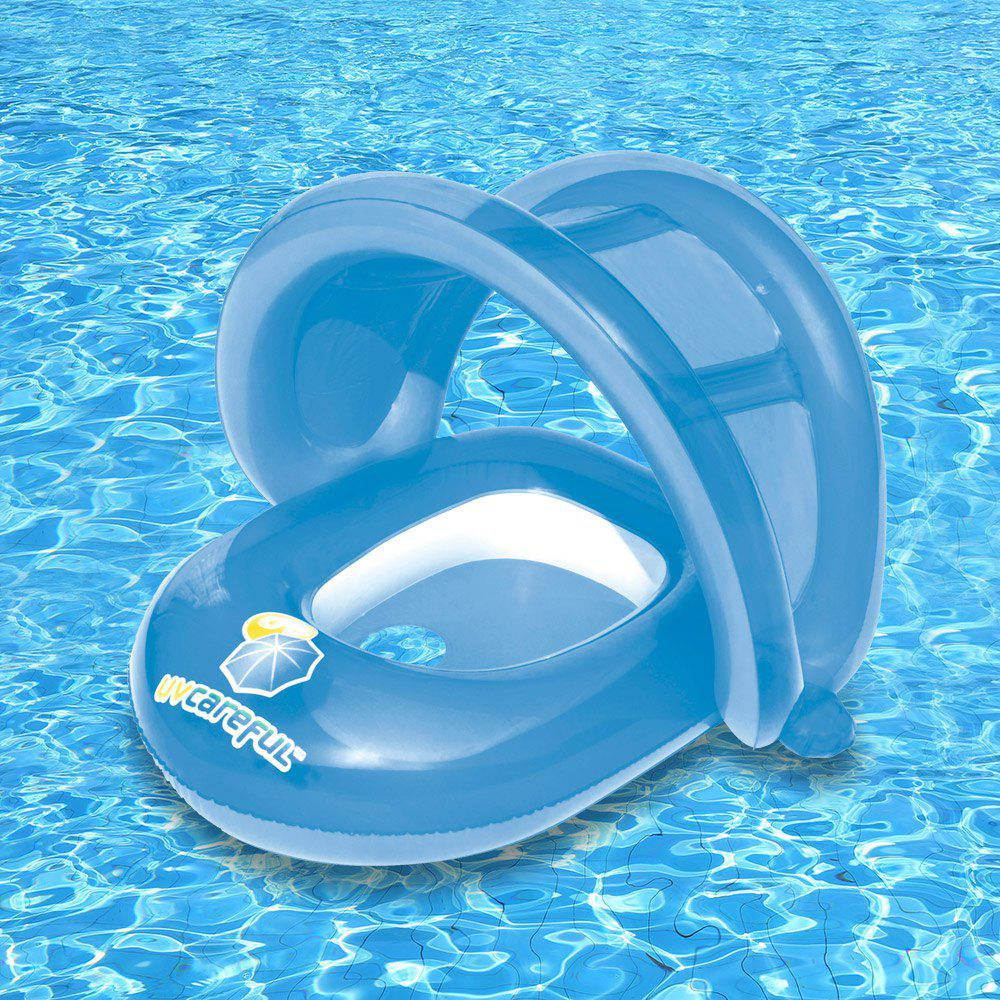 Floating Seat Boat with Anti-UV Sunshade - LIGHT BLUE