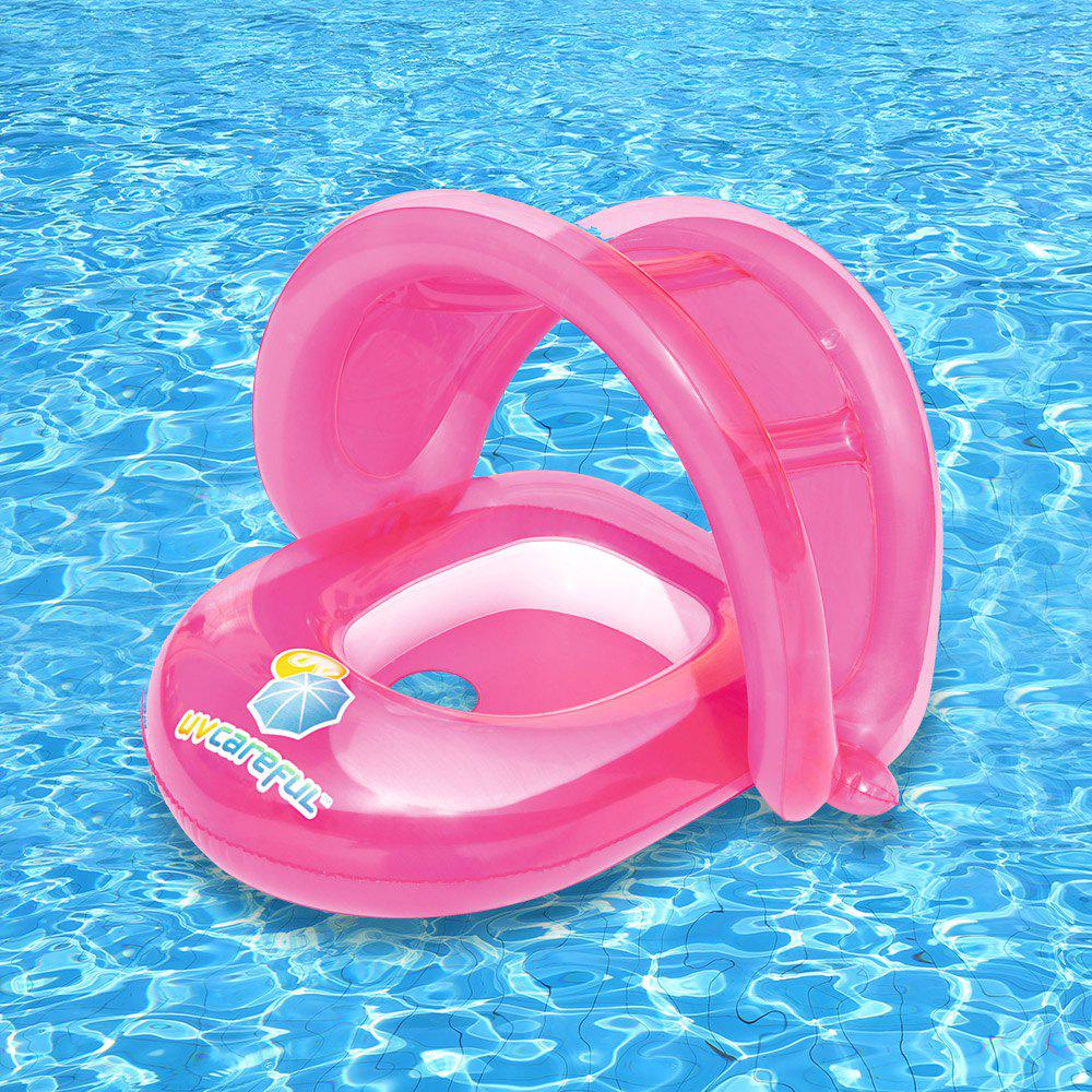 Floating Seat Boat with Anti-UV Sunshade - LIGHT RED