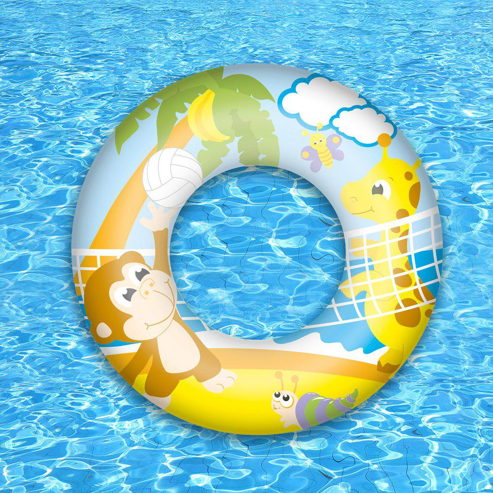 Graphic Swim Ring - LEMON YELLOW