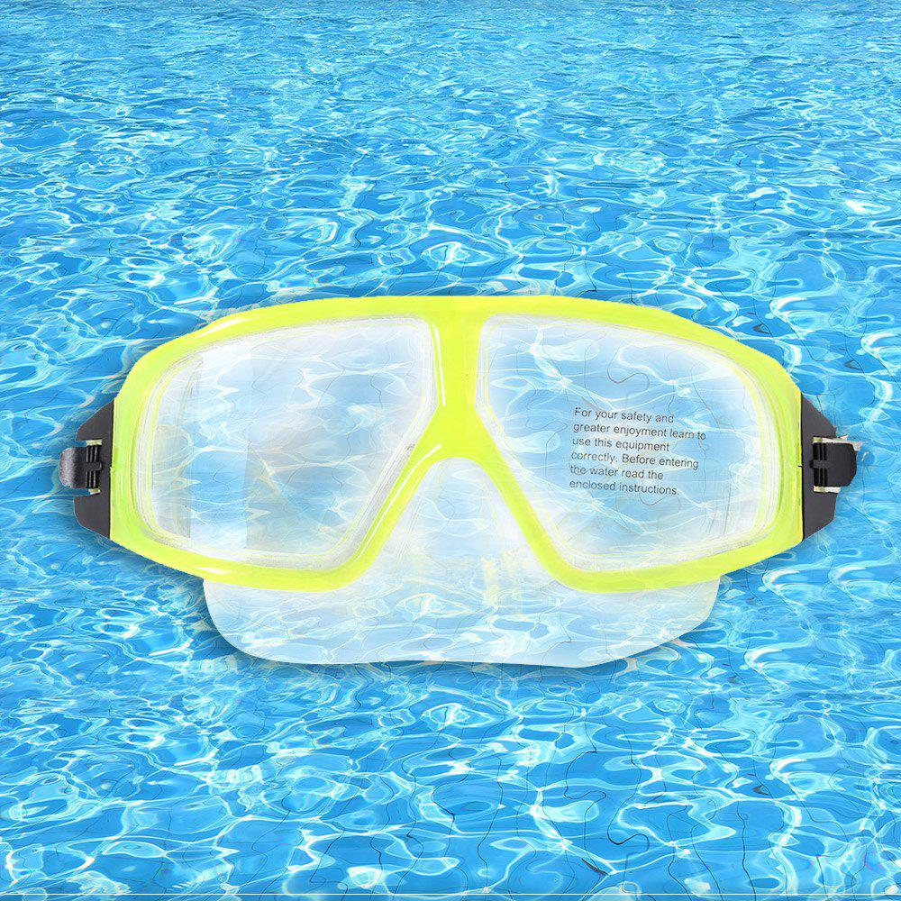Silicone Snorkeling Equipment Diving Mask - YELLOW