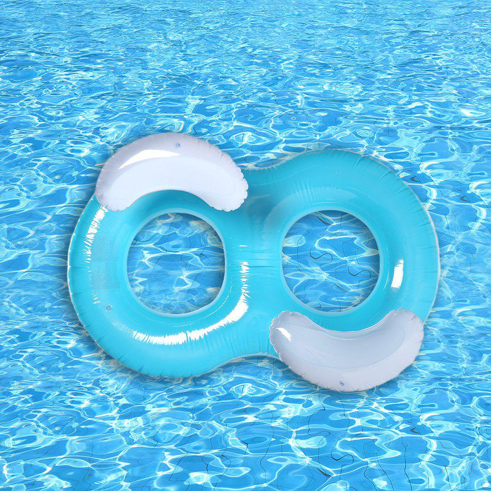 Double Ring Inflatable Float - LAKE BLUE
