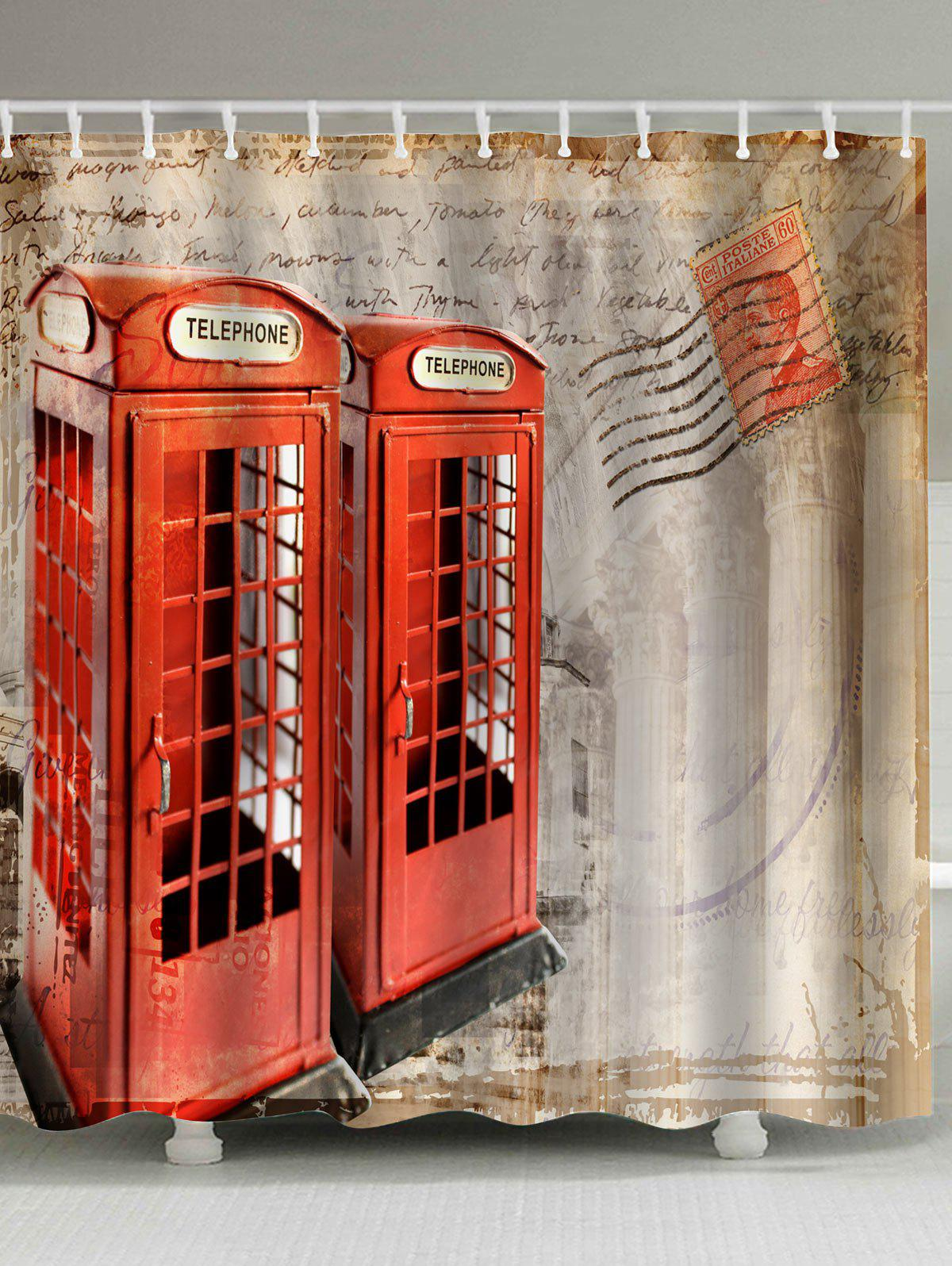 купить Telephone Booth Fabric Unique Shower Curtain недорого