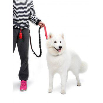 Nylon Running Belt Bungee Leash Pet Dog Traction Rope - RED RED