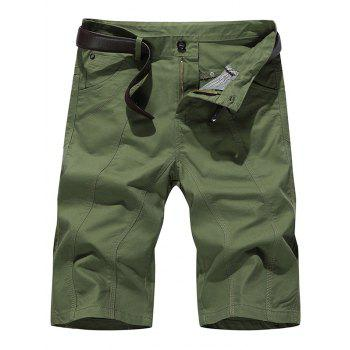 Slim Fit Zipper Fly Chino Shorts