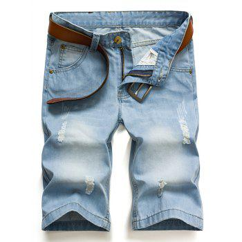 Hot Sale Men's Ripped Denim Shorts