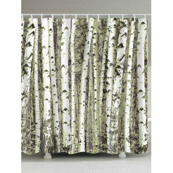 Birches Trunk Printed Shower Curtain with Hooks