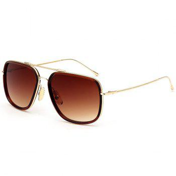 Metallic Long Crossbar Ombre Anti UV Sunglasses