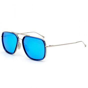 Long Metallic Crossbar Anti UV Reflective Sunglasses