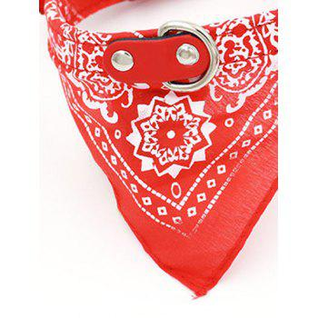 Totem PU Triangle High End Pet Dog Saliva Towels Bib - RED RED