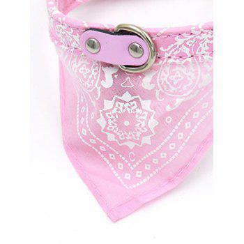 Totem PU Triangle High End Pet Dog Saliva Towels Bib - PINK PINK