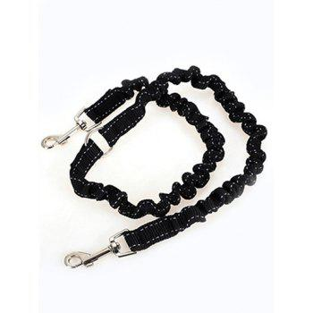 Double Stretch End Pet Dog Nylon Traction Rope -  BLACK