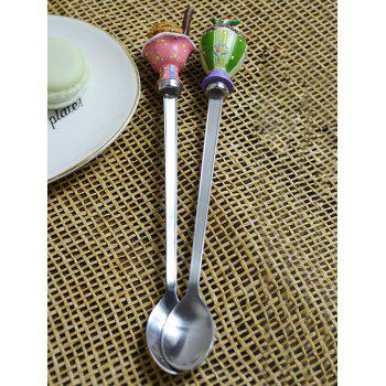 Ice Cream Decorated Long Handle Spoons