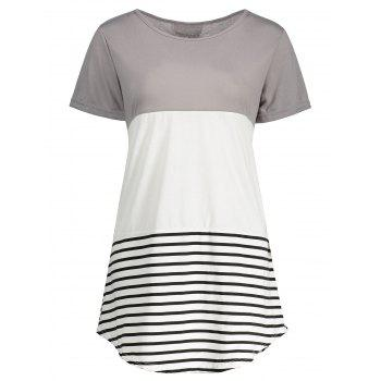 Stripe Plus Size Tunic Tee