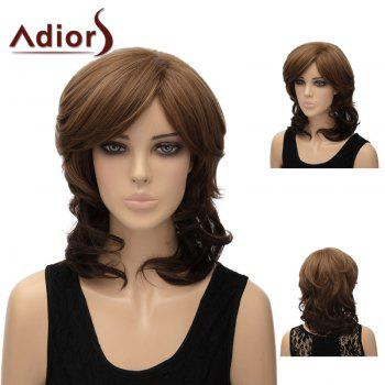 Adiors Side Bang Fluffy Layered Medium Natural Straight Synthetic Wig