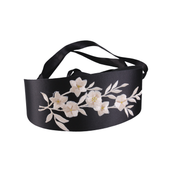 Blossom Embroidered Chinoiserie Banded Retro Corset Belt