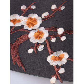 Chinoiserie Banded Flowers Branch Broderie Corset Belt - Orange