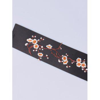 Chinoiserie Banded Flowers Branch Embroidery Corset Belt -  ORANGE