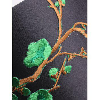 Chinoiserie Banded Flowers Branch Broderie Corset Belt - Vert