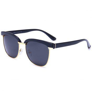 UV Protection Metallic Frame Spliced Sunglasses