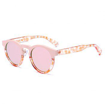 Hollow Out Leg Reflective Mirror Sunglasses