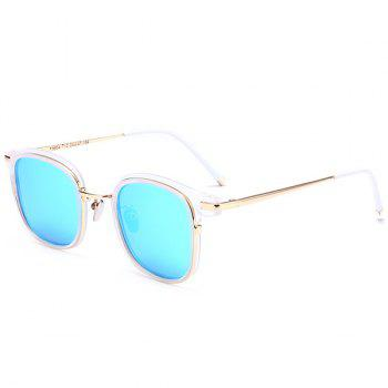 Reflective Mirror Metal Frame Splicing Sunglasses