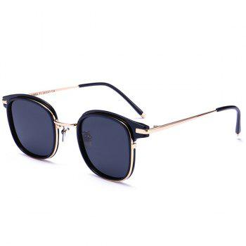 UV Protection Metallic Frame Splicing Sunglasses