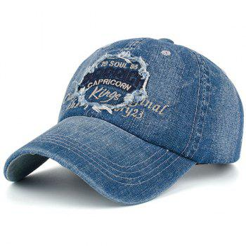 Denim Letters Patchwork Embroidered Baseball Hat