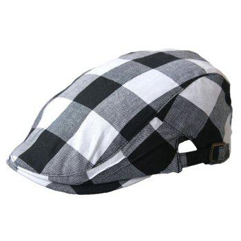 Checked Multipurpose Layered Flat Hat