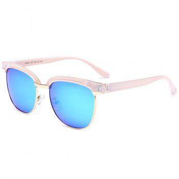 Reflective Metallic Splicing Frame Mirrored Sunglasses