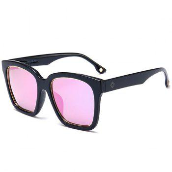 Reflective Mirror Wide Frame Sunglasses