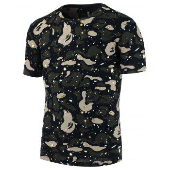 Paint Splatter Camo Print T-Shirt