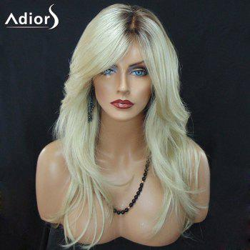 Adiors Long Colormix Slightly Curled Side Part Synthetic Wig