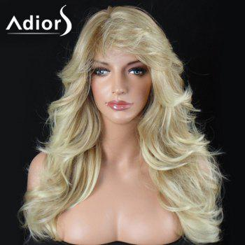 Adiors Long Layered Big Wave Shaggy Side Bang Synthetic Wig