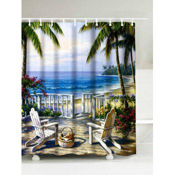 Landscape Sea Oil Painting Shower Curtain