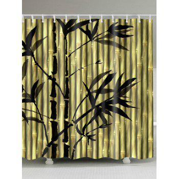 Chinese Bamboo Ink Painting Shower Curtain