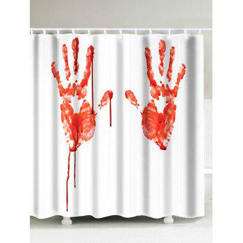 Blood Palm Print Waterproof Shower Curtain