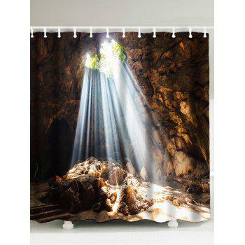 Mountain Design Natural Cave Waterproof Shower Curtain