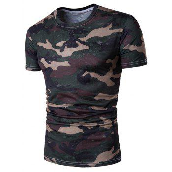 Star Camo Crew Neck T-Shirt