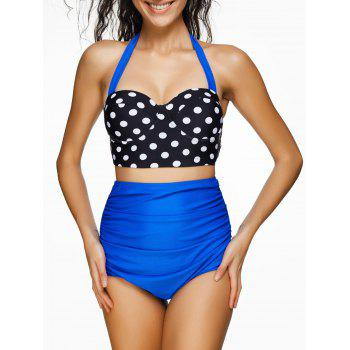 Underwire High Waist Polka Dot Bikini