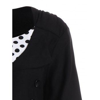 A Line Polka Dot Plus Size Dress - BLACK 9XL