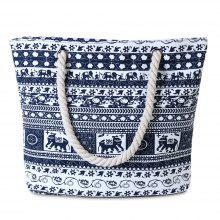 Casual Tribal Print Canvas Shoulder Bag